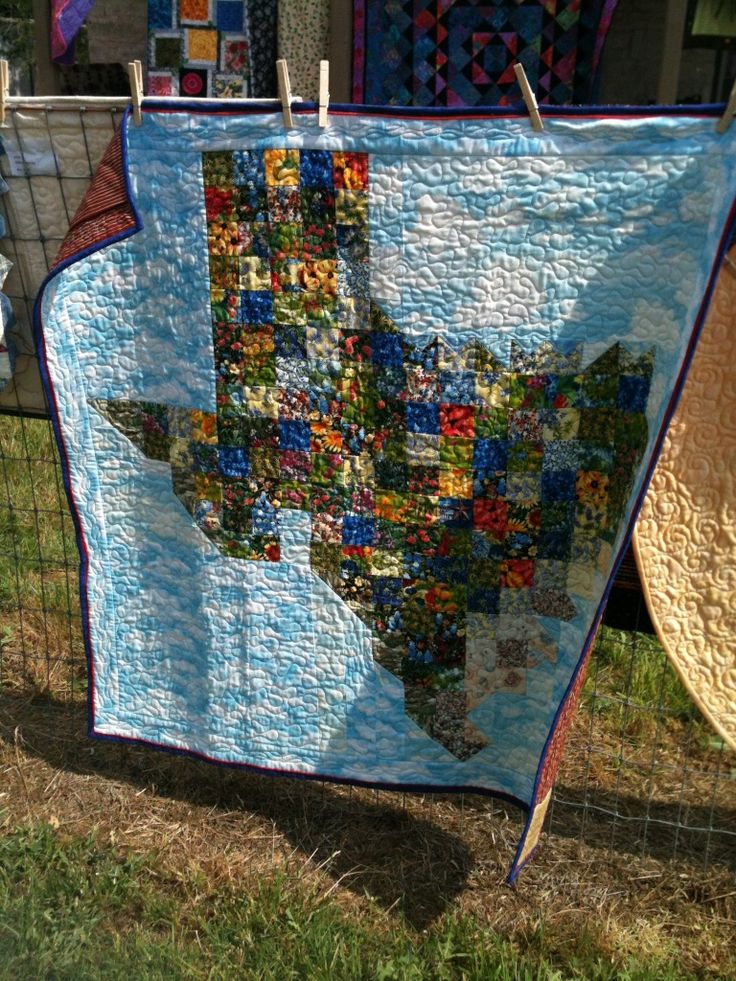 """Texas State Quilt from """"goldsberry921"""" album on photobucket. Wow!!! Someone needs to make an Alabama one!! That would be so cool!!!"""