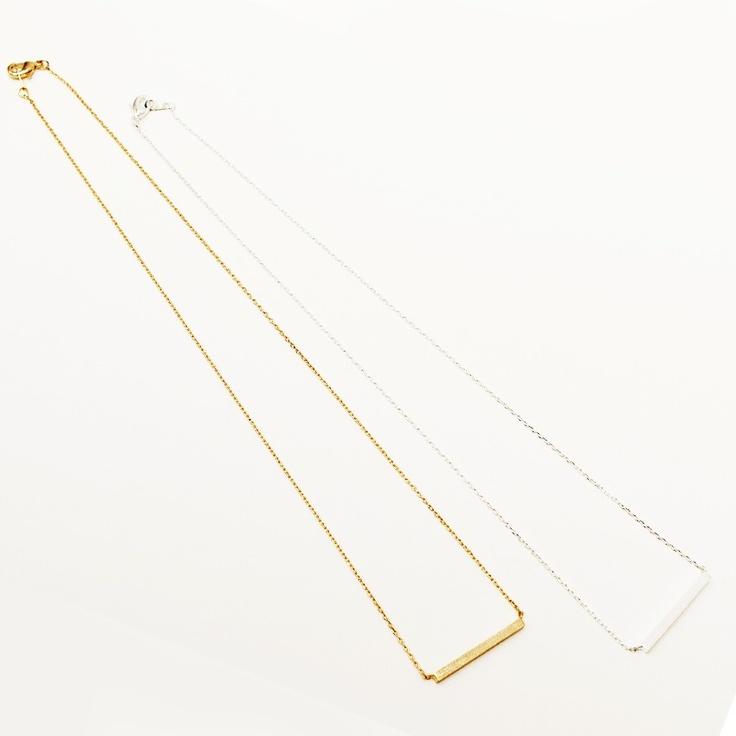Metal bar necklace - guldfärgat