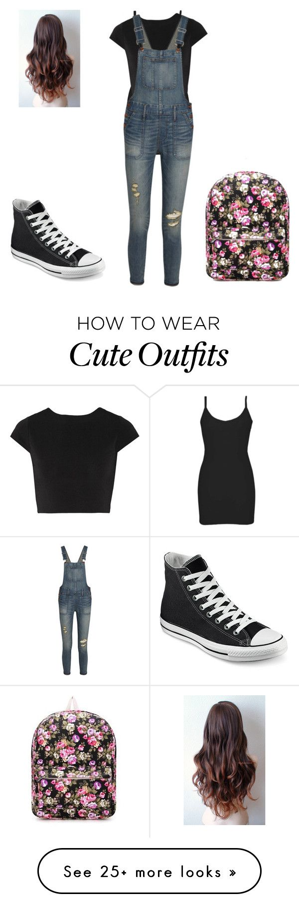"""""""My school outfit"""" by kayleighfawn on Polyvore featuring BKE core, Alice + Olivia, Madewell and Converse"""
