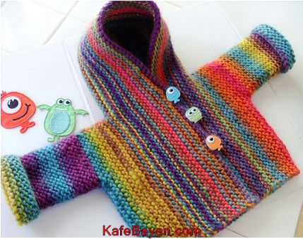 Renkli Bebek Yelek Modelleri Örgü