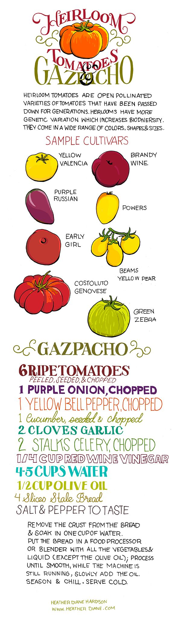 Heirloom Tomatoes Gazpacho | Soups, Stews, Broths and Chilies | Pinte ...