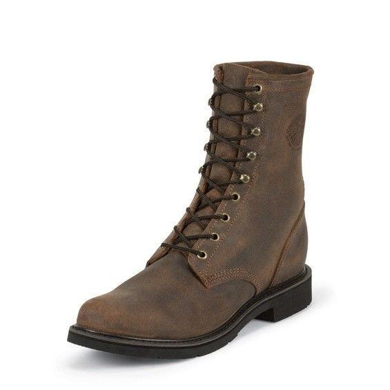 Mens Justin Work Boots Western Ultrathotic Size 8.5 D Dark Mountain 472 #JustinBoots #WorkSafety