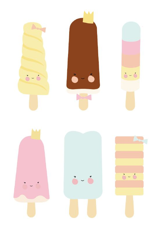 Eef Lillemor 'A3 Poster Popsicle Parlour'
