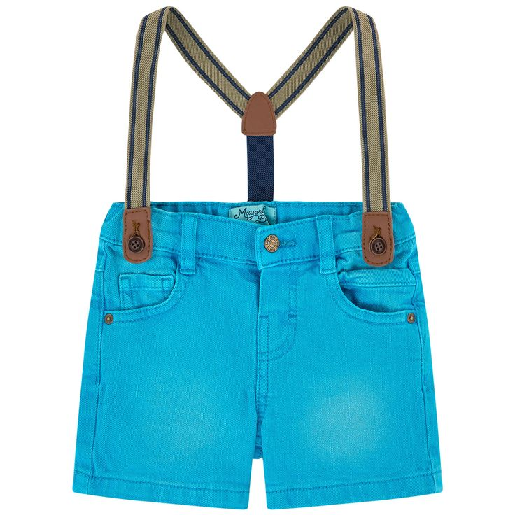 Cotton twill Light item Straight leg fit Five pockets Removable braces Adjustable waistband with an elastic strap Snap button on the waistband Mock fly Buttoned straps Logo plate - $ 23.80