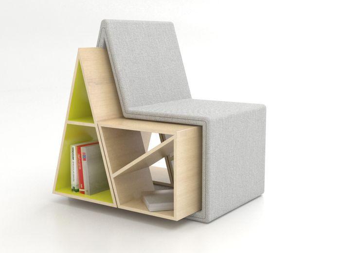 Domus chair est un concept de chaise avec un espace intégré pour y ranger des livres et magazines. L'idée n'est pas idiote et cela peut faire un bon fauteuil d'appoint dans un salon. Domus chair a été designé en 2012 par Andrea Mangano.