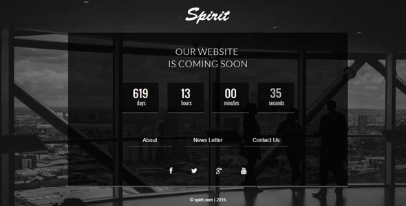 Spirit - Responsive Coming Soon Page - Under Construction Specialty Pages