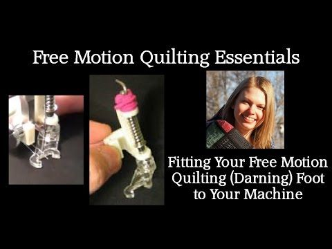 The Free Motion Quilting Project: How to Fit Your Free Motion Foot