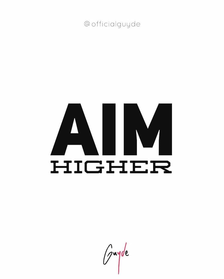 The easiest way to perform poorly is to set mediocre goals. Instead choose to aim higher than anyone who ever came before you.    #officialguyde