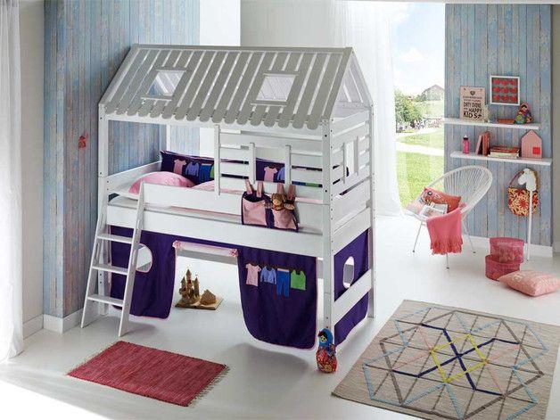 Łóżko bukowe antresola Domek Wendy 07 - Seart - Łóżka