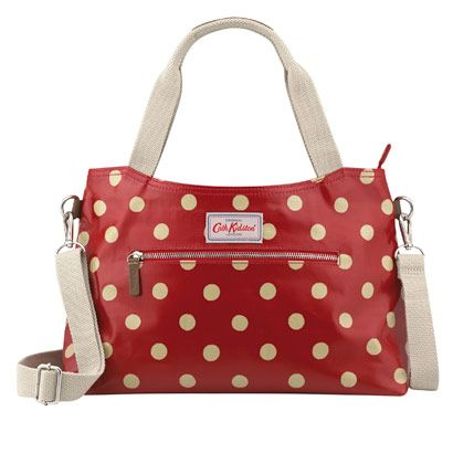 Button Spot Zipped Handbag With Detachable Strap - Cath Kidston