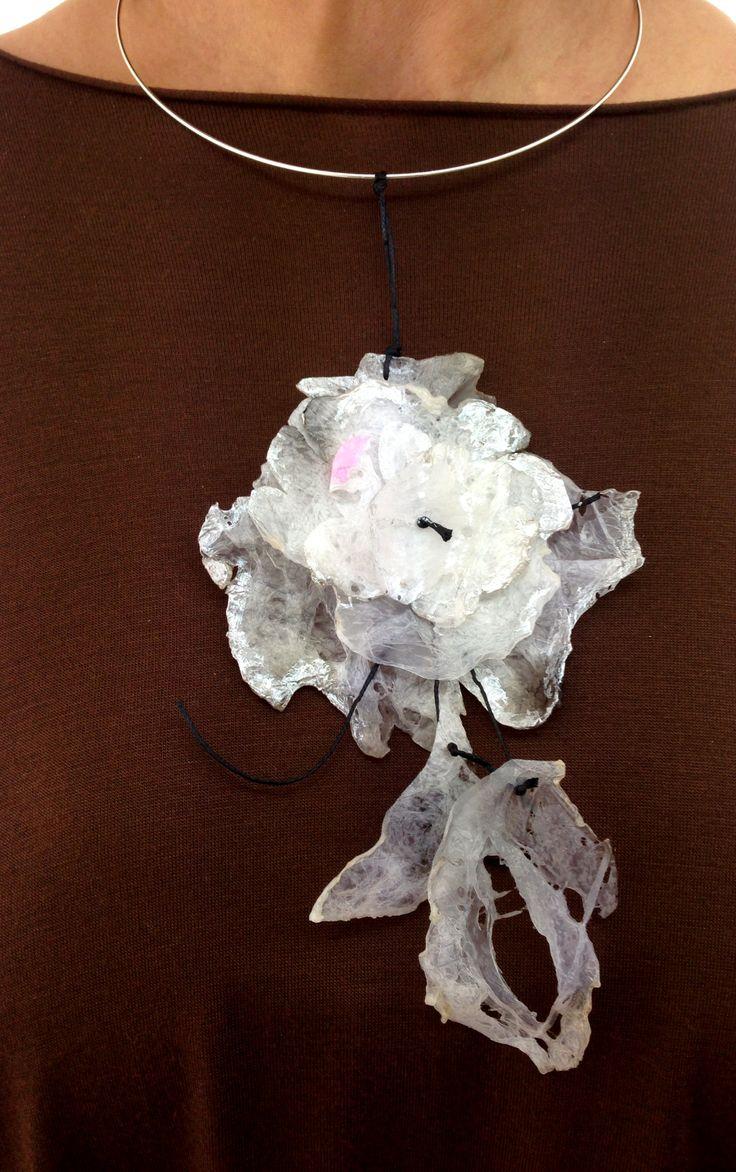 plastic bag necklace by Maria Haniou
