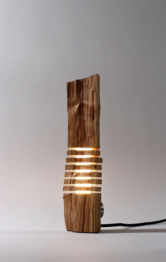 Minimalist Wood Sculpture Fine Art Illuminated Sculpture on Etsy, $450.00