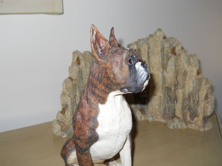 Danbury Mint  Sitting Brindle Boxer Large Figurine