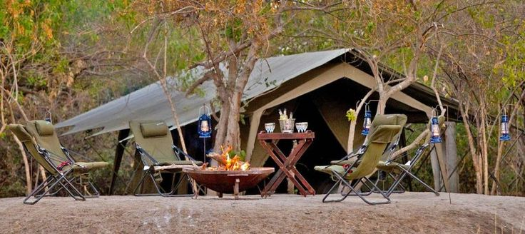 Kana Kara Camp is a semi-permanent tented camp located in the Okavango Delta of Botswana. It consists of 8 Meru-style tents, each with an en-suite bathroom as well as a traditional-style outdoor bucket shower for a unique experience.