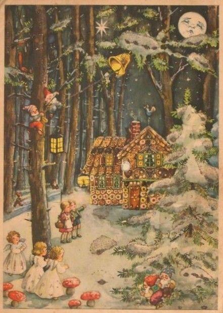 carte ancienne de no l antique christmas cards and illustrations pinterest noel. Black Bedroom Furniture Sets. Home Design Ideas