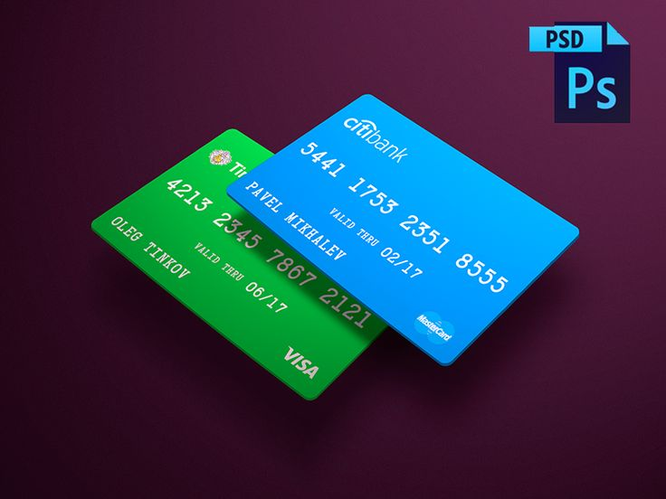 FREE! Cards PSD Mockup