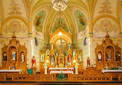 St. Mary's Catholic Church, St. Benedict - we have had 4 generations of weddings in our family at this amazing church.