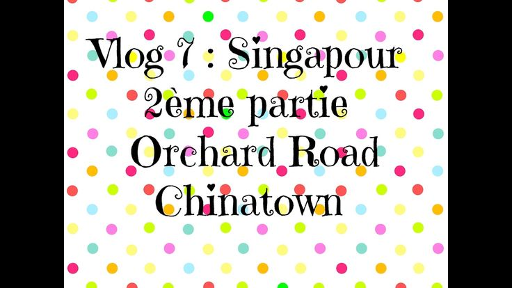 Vlog 7 : Singapour / Chinatown, Orchard Road