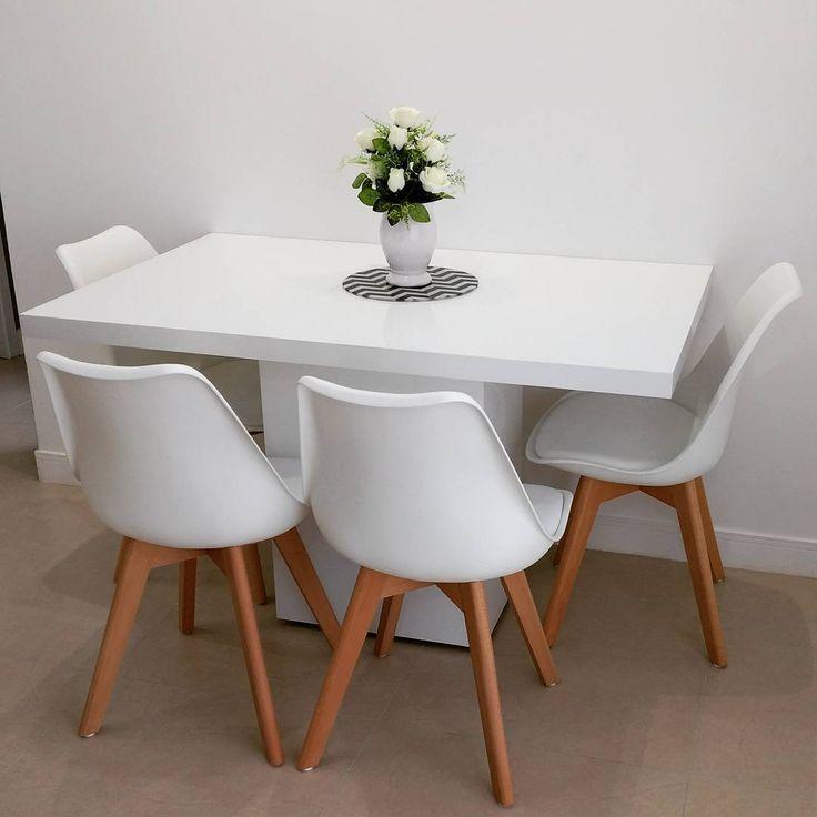 """1,407 curtidas, 79 comentários - Ap202🏡 52 m2 (@felicidade_compartilhada) no Instagram: """"Chegaram as cadeiras pra completar nossa sala de jantar. O que acharam? Eu gostei muito do…"""""""