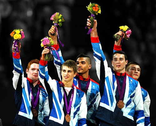 Great Britain's men's gymnastics team wins bronze - The first medal for Great Britain in men's gymnastics since the 1912 Summer Olympic Games in Stockholm, Sweden.     ¬ TEAM - Daniel Purvis, Max Whitlock, Louis Smith, Kristian Thomas, & Sam Oldham.