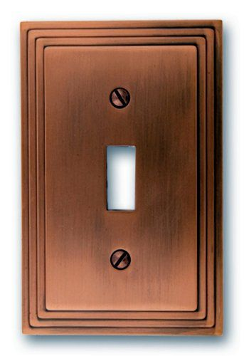 amerelle steps toggle wallplate antique copper decorating with wallplates is an economical way to make great impact in your home