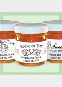 Personalized Honey wedding favors bring a dramatically different flair to your special occasion... perfect for any wedding...creating casual elegance and complimenting your event! In early Greece and Rome honey symbolized fertility, love, and beauty. Furthermore, in Greek mythology, it is said that Cupid dipped his arrows in honey to fill the lover's heart with sweetness. Now bridal couples can offer this same symbol of love to their wedding guests with this sweet favor sure to leave lasting…