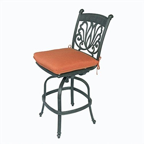 Cast Aluminum Bar stool Ariana Armless Swivel Desert Bronze - Barstool Sunbrella Cushions. Ariana Armless Swivel Bars tool. Outdoor Bar stool All Weather Desert Bronze Patio Furniture New Bar Stools. Made of Genuine High Quality Cast Aluminum. Sturdy and strong for comfortable seating. Durable and quality made for years of use. High quality outdoor fabric, sunbrella cushions for your backyard.