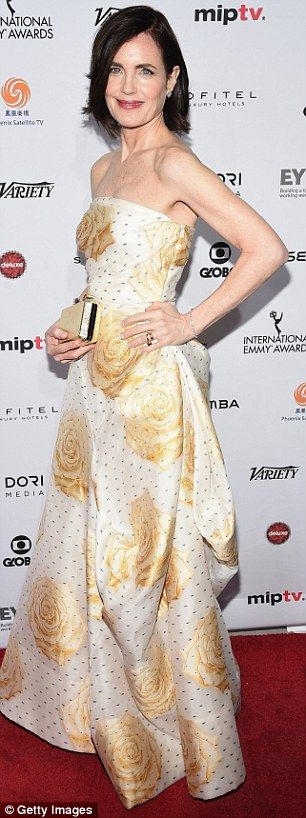 Downton Abbey's Elizabeth McGovern: No matter what the angle, the Downton star looked fabulous...