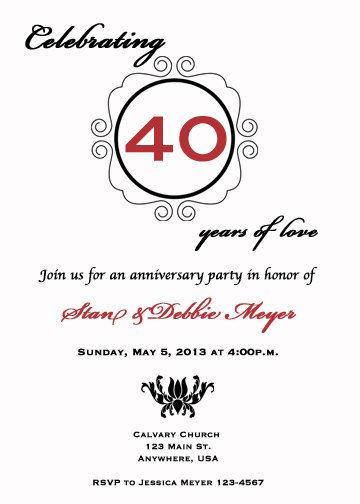 33 best Wedding Anniversary Invitations images on Pinterest Html - anniversary printable cards