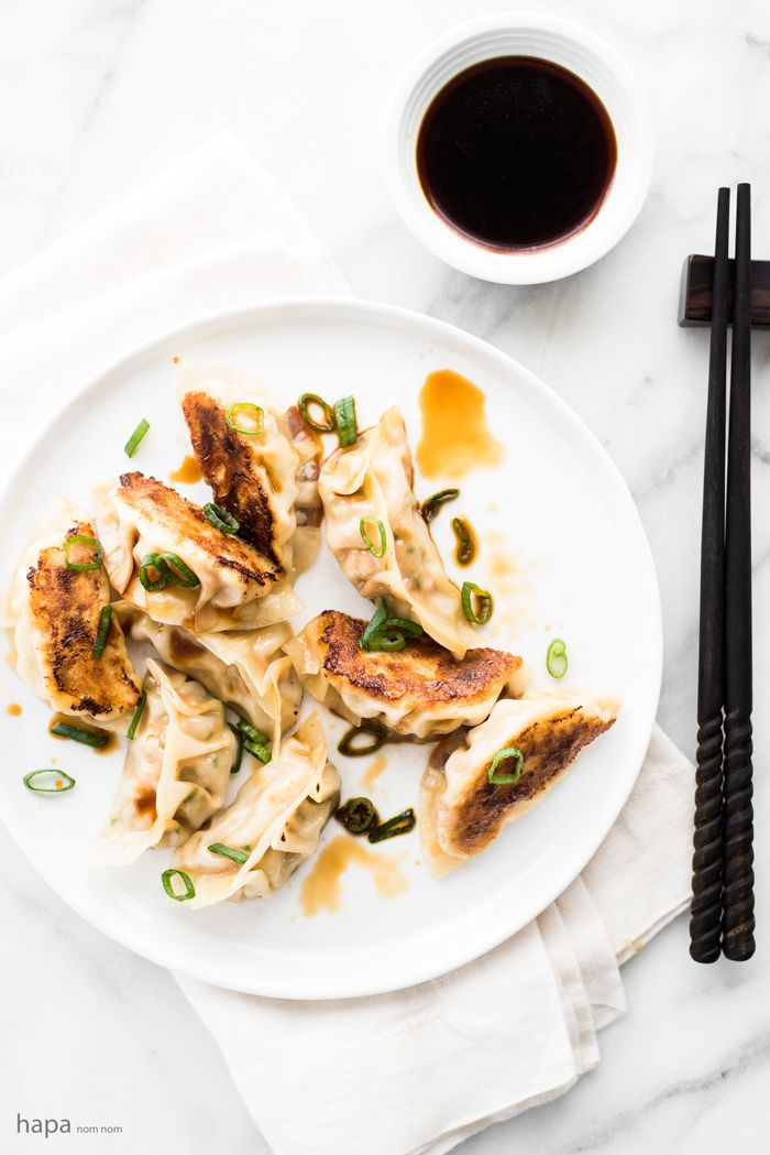 Spicy Chicken Pot Stickers with Ginger Infused Dipping Sauce ...