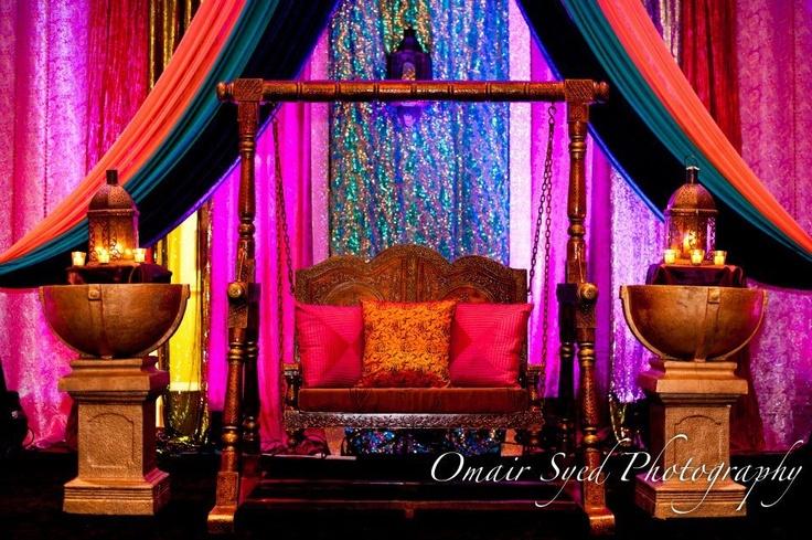 Mehndi Jhoola Decoration : Mehndi stage decor pinterest and