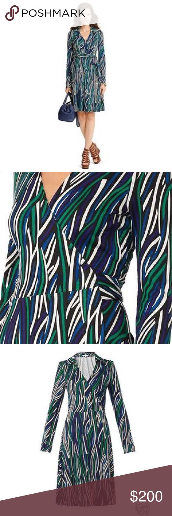 "More Forties Inspired Flair: DVF T-72 Classic Wrap Dress! Bf T-72 In ""cornfields"" Print"