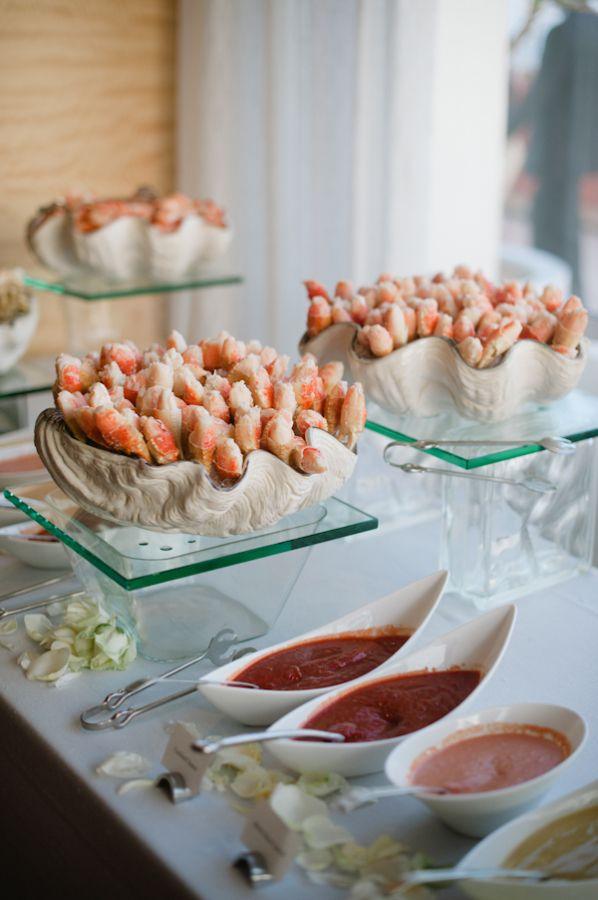 Seafood bar at wedding aperitivos mesas de buffet y - Aperitivos de mariscos ...