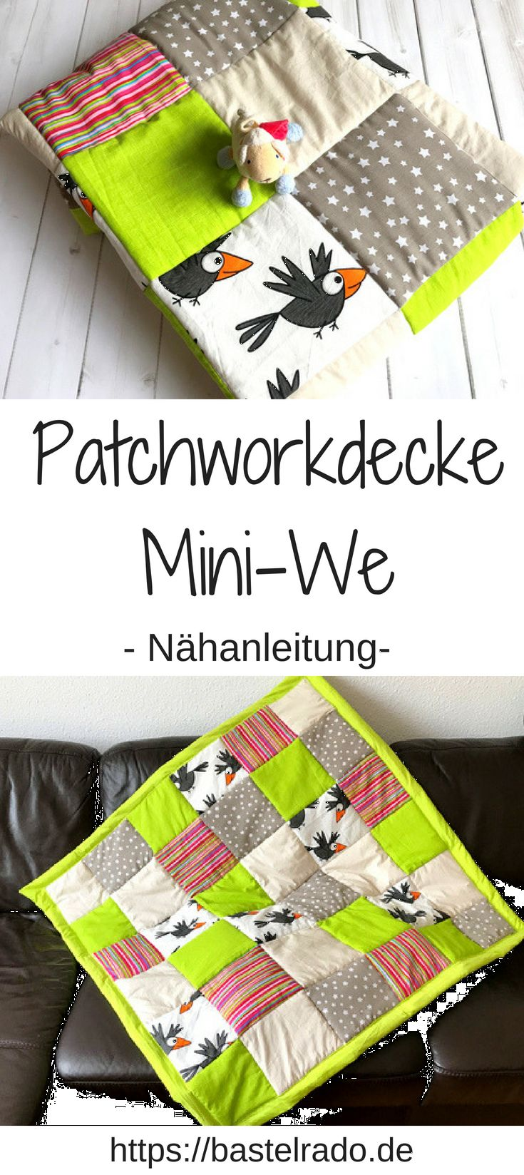 Patchwork Blanket Mini-We: close the blanket yourself!
