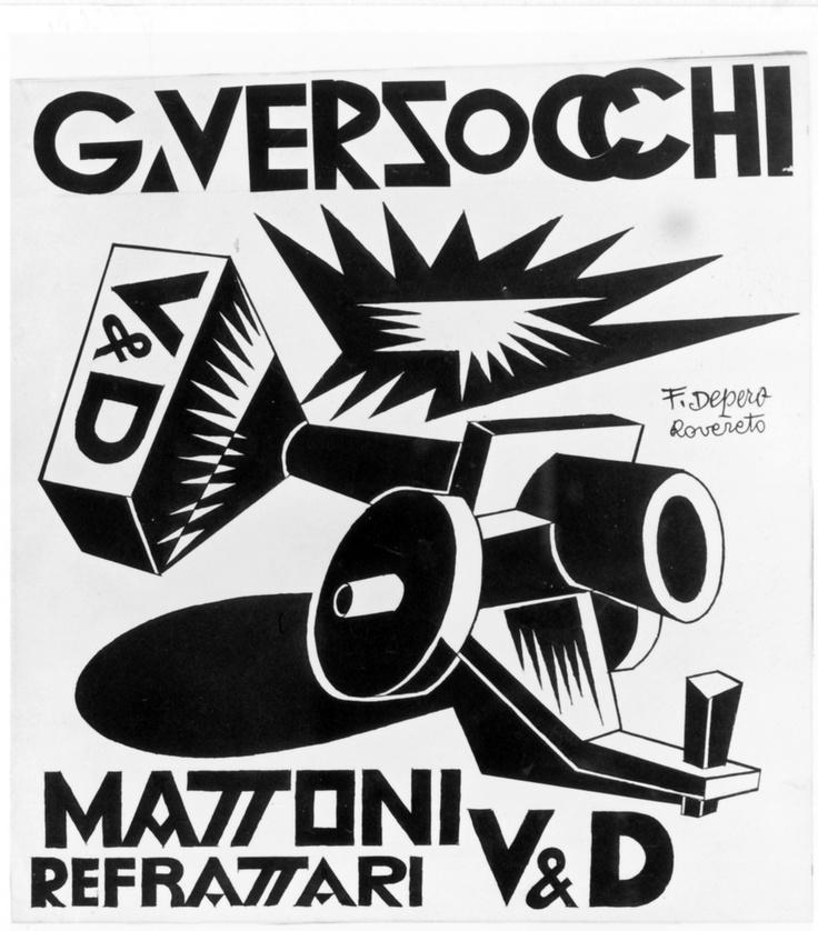 Bitter Campari / Fortunato Depero #storia #grafica #poster #adv #futurismo