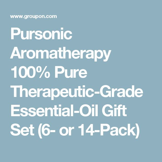 Pursonic Aromatherapy 100% Pure Therapeutic-Grade Essential-Oil Gift Set (6- or 14-Pack)