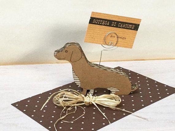 Adorable dachshund, cardboard dog, dachshund gift, dachshund ornament, dachshund art, wedding favor, dog art, sustainable, communion