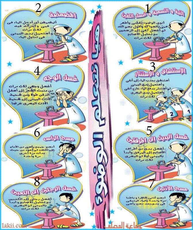 تعلم الصلاة والوضوء Learn Prayer And Ablution Islamic Kids Activities Muslim Kids Activities English Activities For Kids