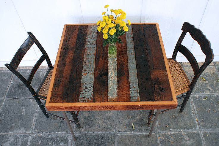 Card Table Makeover with Reclaimed Wood