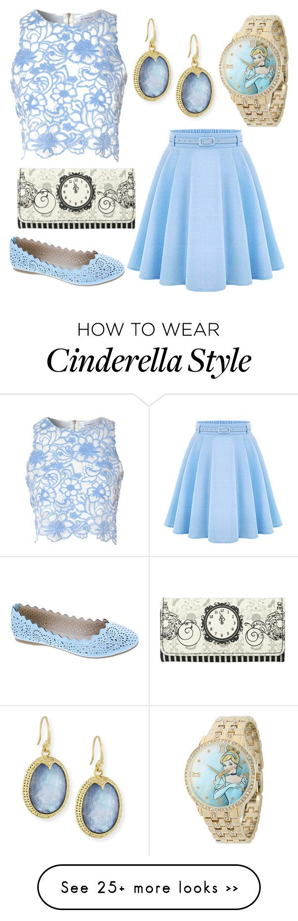 """Disneybound: Cinderella"" by swagshark on Polyvore featuring Armenta, True Decadence, Disney and Machi"
