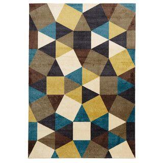 Modern Pixels Rug Blue Green Brown 280x190cm431.99acrylic hand tufted