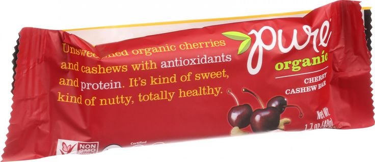 Pure Organic Pure Fruit and Nut Bar - Organic - Cherry Cashew - 1.7 oz Bars - Case of 12