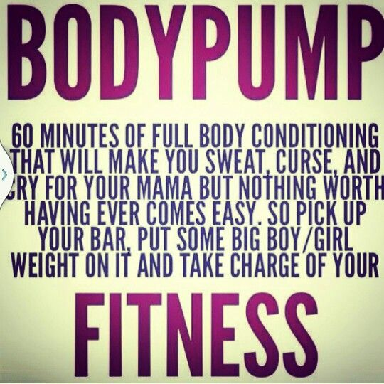 Body Pump quote                                                                                                                                                                                 More