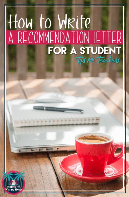 In this blog post from Reading and Writing Haven, read about how to write a recommendation letter for students. Tips and tricks for teachers including a suggested template. #letterofrecommendation #recommendationletter