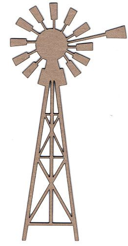 Leaky Shed Studio - Chipboard Shapes - Windmill