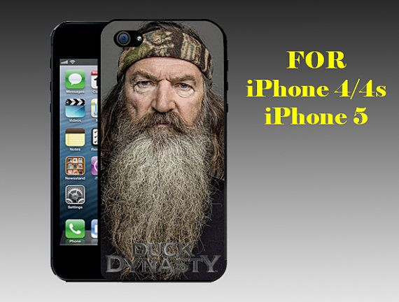 Phil Robertson - Print on Hard Cover iPhone 5 Black Case - iPhone 4/4s Case - Please Leave a Note For the Type Case and Color Case