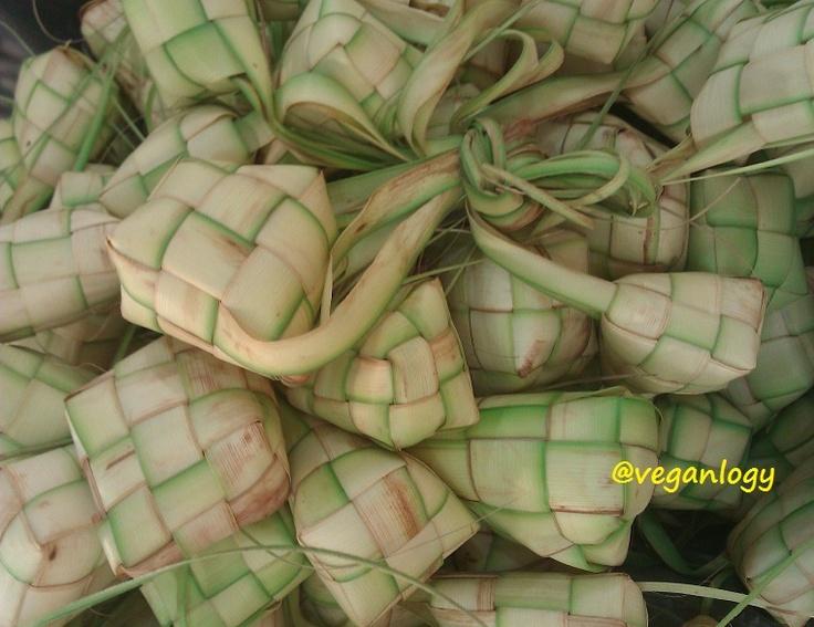 Selamat Hari Raya. Hari Raya Puasa. Hari Raya Aidilfitri. Hari Lebaran. Ketupat and Banana Flower Curry.
