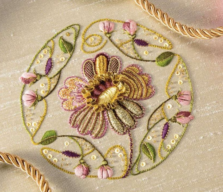 This exquisite piece has been embroidered by 3 friends based in Netherlands. They have also included instructions and great pics on how to stitch this very piece.