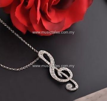 00276-Bling Treble Necklace