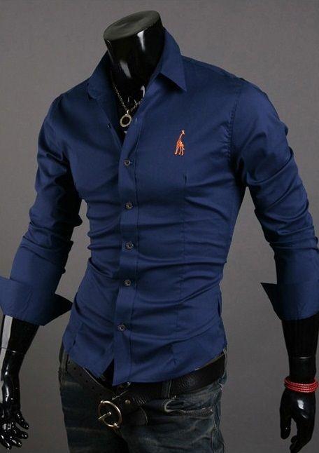 Camisa Casual Clasica Night Style Color Sólido - en 5 Colores